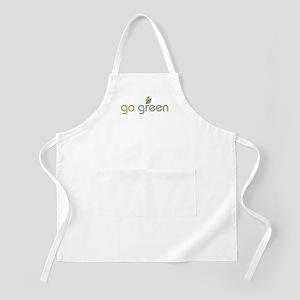 Go Green [text] BBQ Apron